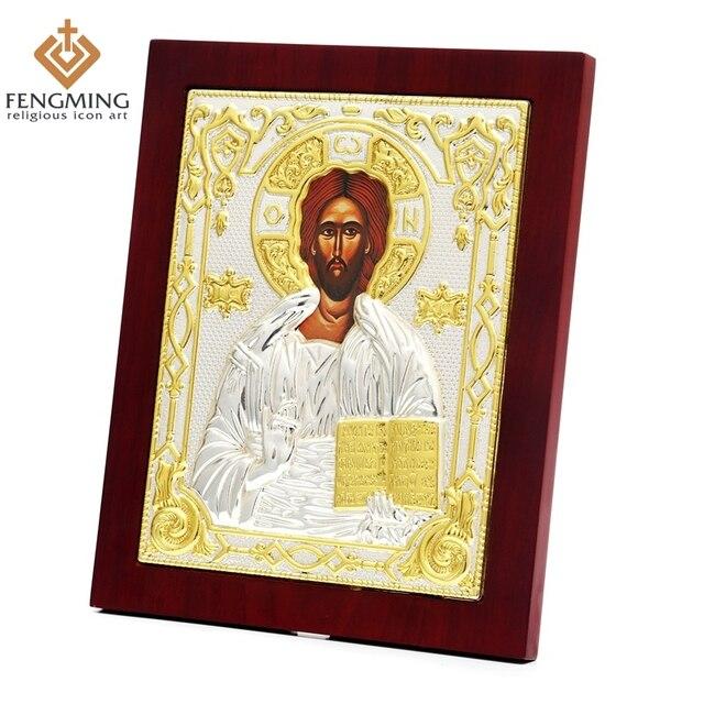 byzantine art Jesus Christ Catholic Religious items catholic baptism gifts home decoration orthodox church icons for sale