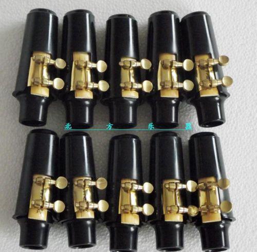 New 10 set Alto sax mouthpiece and ligature and cap alto sax saxofone bocal de metal mouthpiece bocal patches pads almofadas cap buckle chapeamento de ouro