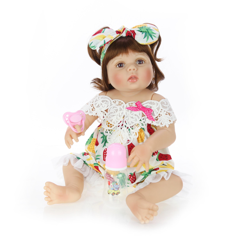 Nieuwste Reborn Baby Poppen 23 Inch Full Siliconen Vinyl Body 57 cm Levensechte Pasgeboren Meisje Pop Voor kinderen Dag geschenken Kids Present-in Poppen van Speelgoed & Hobbies op  Groep 2