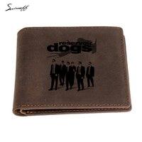 Smirnoff Laser Engraved Reservoir Dogs Men Wallet Custom Name Gift Zip Coin Pocket Real Leather Brown