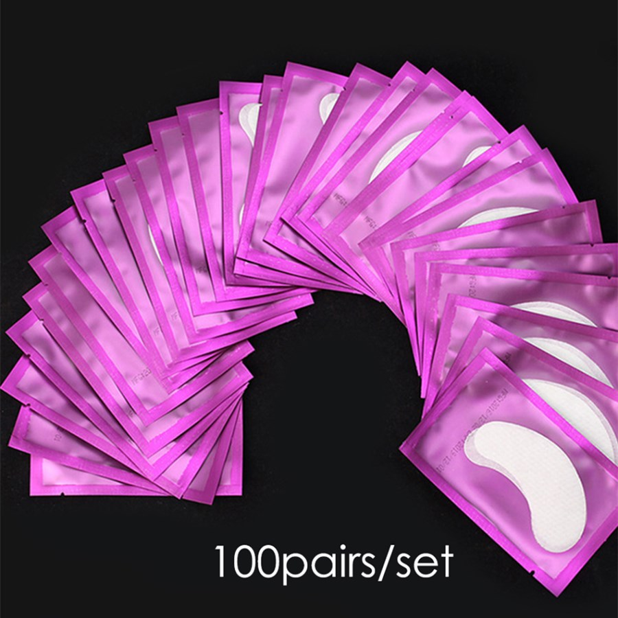 Eyelashes Patches for Eyelash Extension Under the Eyes Building Set False Lash Eye Pads for Growing the Eyelashes Paper Sticker ...