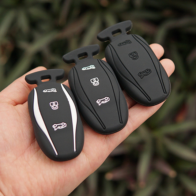 Silicone Key Fob Skin Cover Case Shell Hood For Tesla Model S 75d