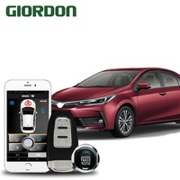 Corolla 2018 car accessories Keyless Entry Comfort System PKE Phone APP Remote Start Car Engine Car Alarm Push 913