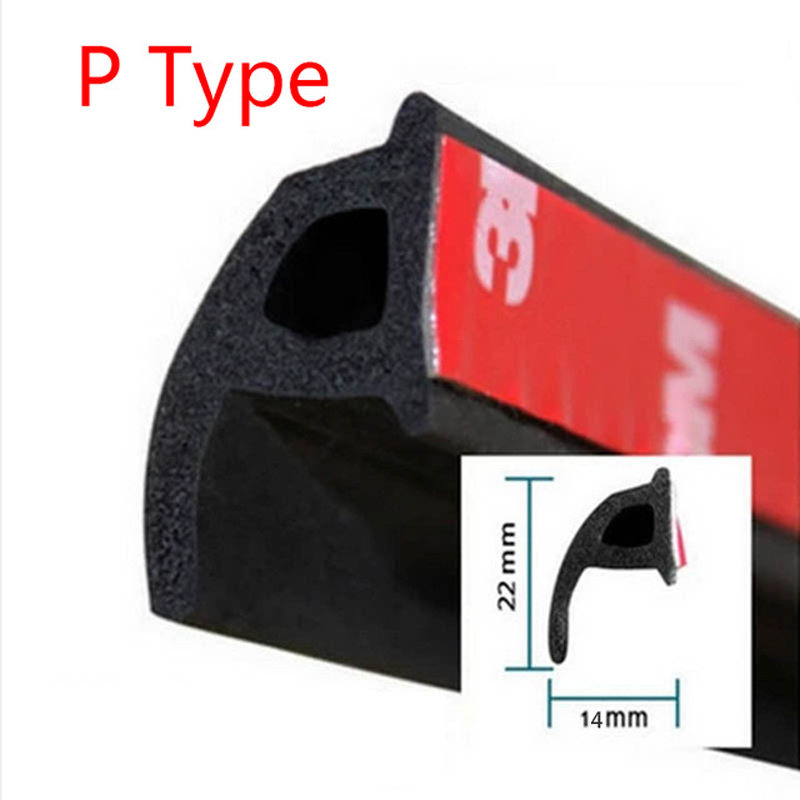 Car Styling P Type Auto Rubber Seals for Ford Focus 2 3 Mk2 Fiesta Ecosport Kuga Mondeo Mk4 Fusion Ranger Explorer For Fiat 500