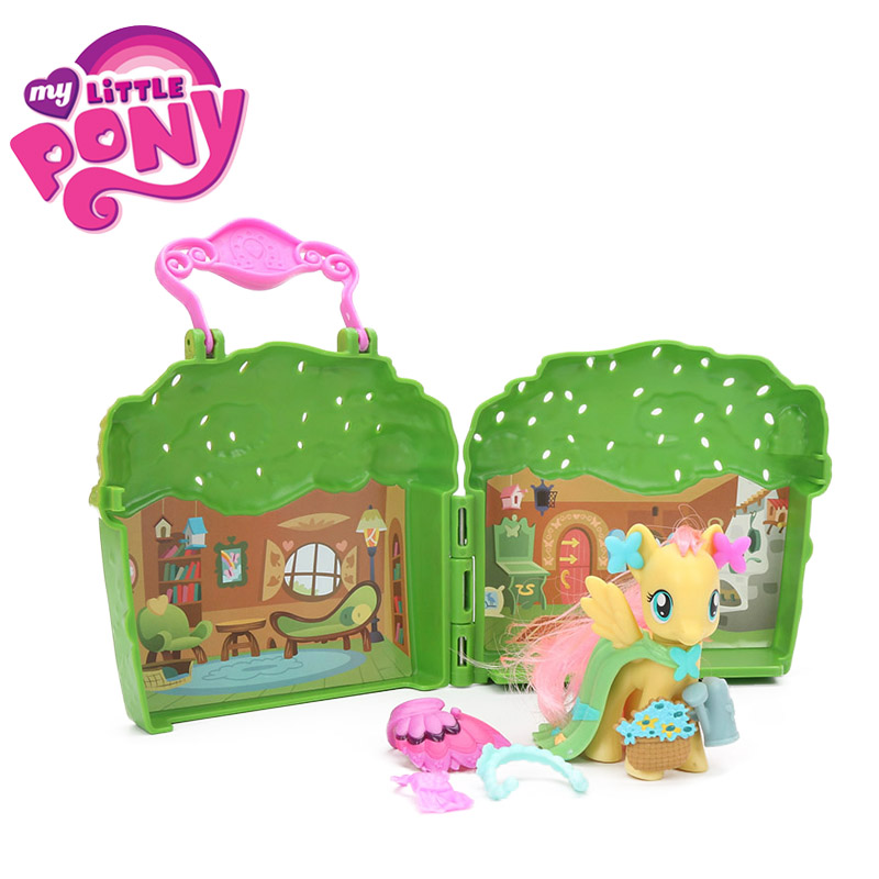 My Little Pony Toys Friendship is Magic Fluttershy Rarity Explore Equestria PVC Action Figure Cottage Playset Collectible Model my little pony toys the movie princess cadance celestia pvc action figure friendship is magic model doll glitter celrbration