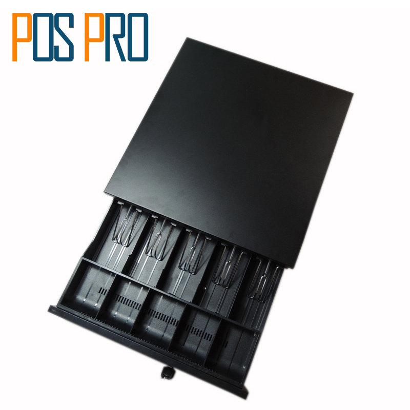 IPCD02 Black color Cash Register Drawer POS Cash Drawer 5 Coins 5 Bills of the Cashbox with RJ11 interface nice white pos system 15 inch touch screen billing machine all in one pos restaurant cash register with free shipping