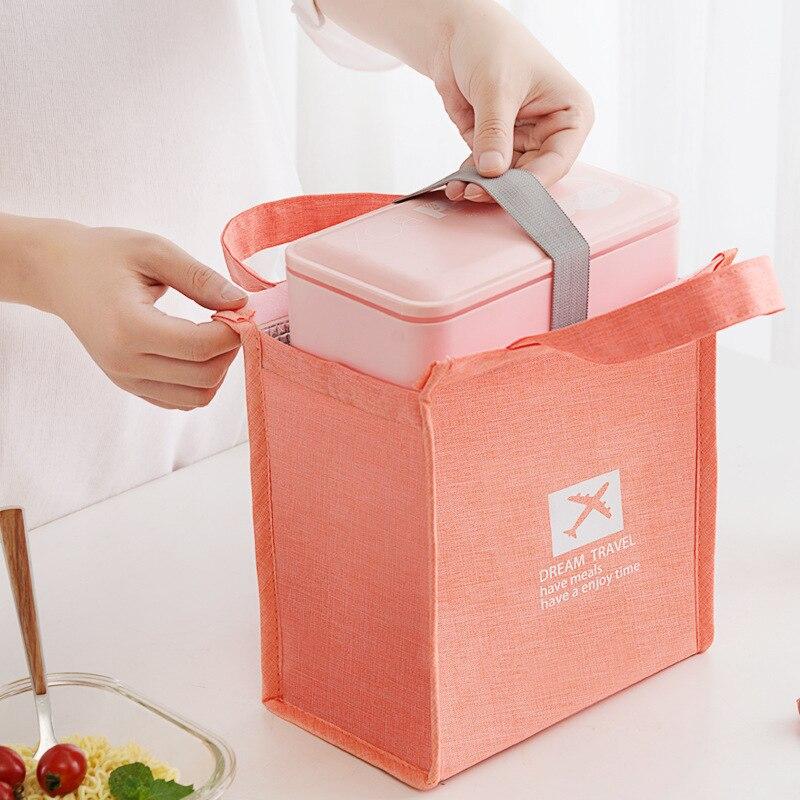 Wodoodporna torba na lunch termiczna dla dzieci przenośne jedzenie torba małe izolowane pudełko na lunch torby Cooler organizator podróży torebka chłodząca fajne pudełko