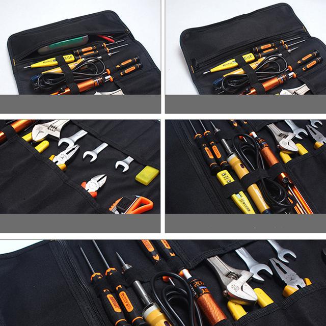 Car Storage Oxford Canvas Roll Car Repair Tools Storage Bag Organizer Waterproof Portable Diagnostic Tools Auto Organizer