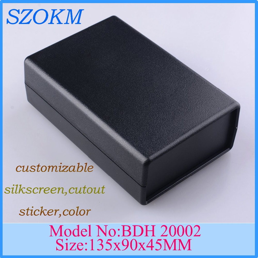 1 piece free shipping 135x90x45 mm electronic enclosure handheld project box din electronic blocks plastic custom 4 pcs handheld plastic enclosure for electronic 238 134 58mm plastic enclosure box switch box china electronic enclosure