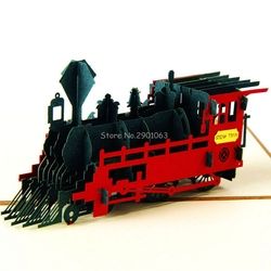 Vintage 3d pop up paper laser cut greeting cards creative handmade retro train birthday postcards for.jpg 250x250