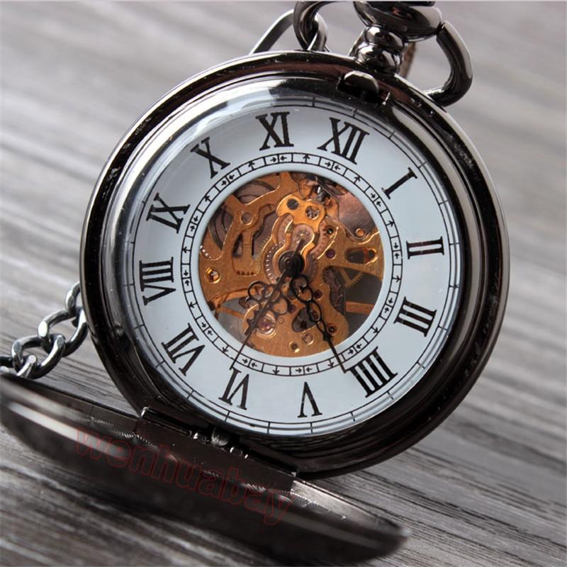 Vintage Սև մեխանիկական գրպանի ժամացույց - Գրպանի ժամացույց - Լուսանկար 4