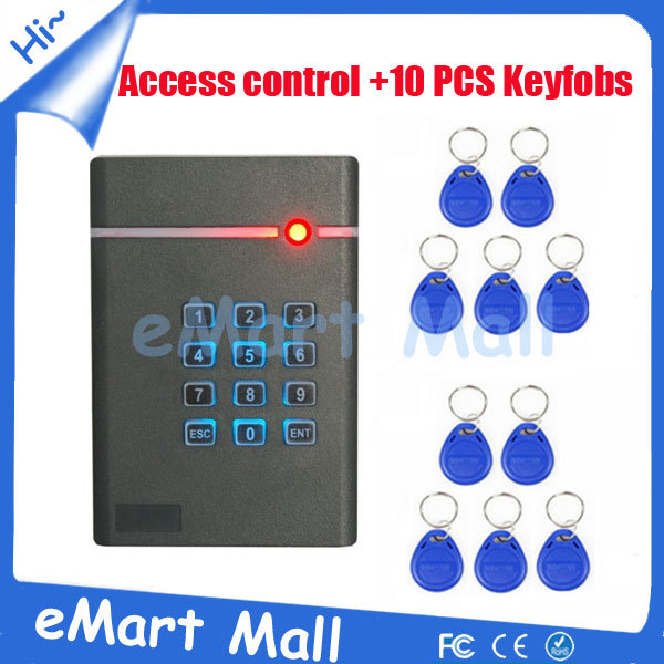 Free ShippingNew RFID Card Entry Door Access Control Stand-alone Single Door System With 10 piece keyfob