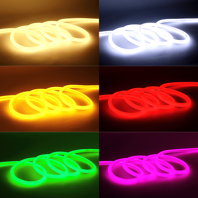 LED Strip 12V SMD2835 Neon Light Round Line Low Voltage Flexible Indoor Outdoor Waterproof Soft Light Strip Car Ambilight Lights in LED Strips from Lights Lighting