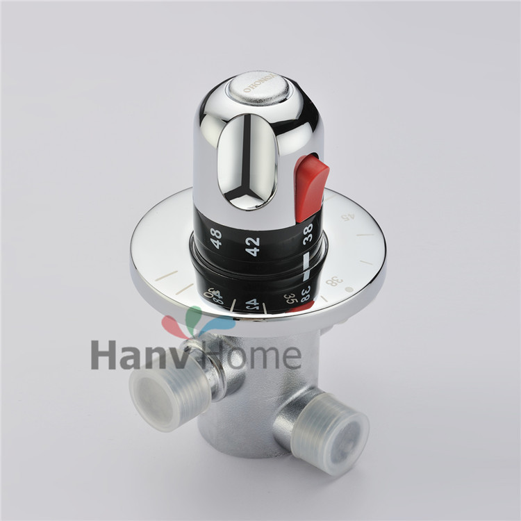 New DN15(G1/2) Brass Thermostatic Mixing Valve, Solar water heater valve,Adjust the Mixing Water Temperature Thermostatic mixer the handle of the water tap water mixing valve d7 copper valve handwheel cylinder angle valve handwheel