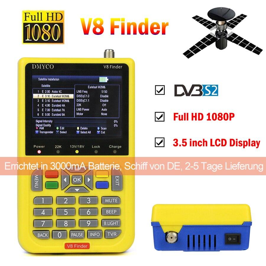 V8 Finder HD satfinder DVB-S2 Ad Alta Definizione Satellite Finder MPEG-4 DVB S2 Misuratore Satellitare Pieno 1080 p V8 Finder lnb sat finder