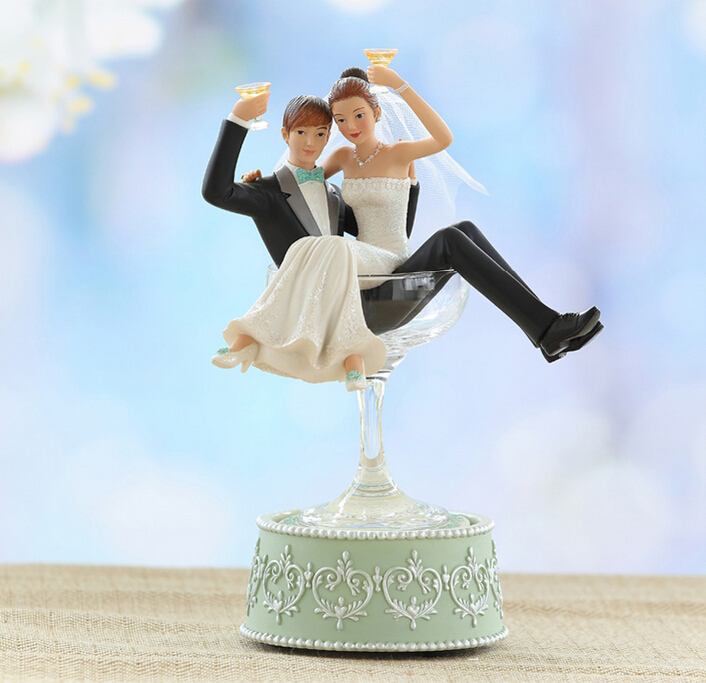 European Ornaments Personalized Gift Ideas Newlywed Couple Music Box