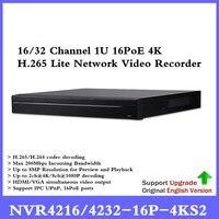 Бренд оригинальный POE NVR NVR4216 16P 4KS2 NVR4232 16P 4KS2 16/32 канала 1U 16PoE 4 К и H.265 Lite Сетевой Видео Регистраторы Бесплатная доставка
