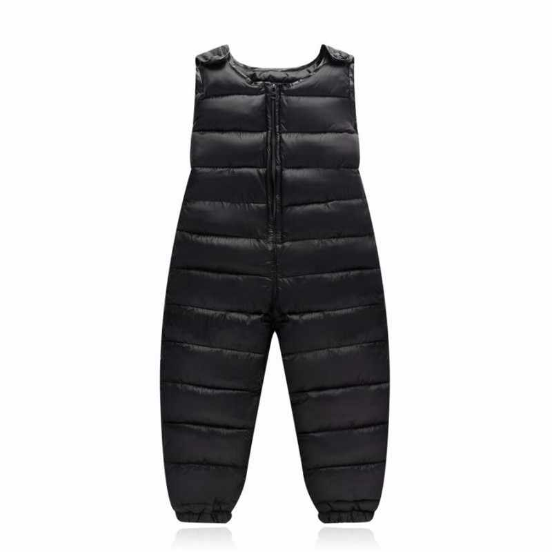 LILIGIRL 2019 New Baby Boys Winter Down-Cotton Strap Pants Overalls Suit for Girls Rompers Clothes Sets Autumn Kids Warm Costume
