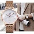 MISS KEKE 2017 Женщина Мода Ретро Нержавеющей Стали Кварцевые часы Минималистский Горячий Мраморный Часы Наручные Часы Популярные Мода