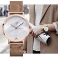 Miss keke 2017 manera de la mujer retro reloj de cuarzo de acero inoxidable relojes reloj de pulsera popular de la manera minimalista de mármol caliente