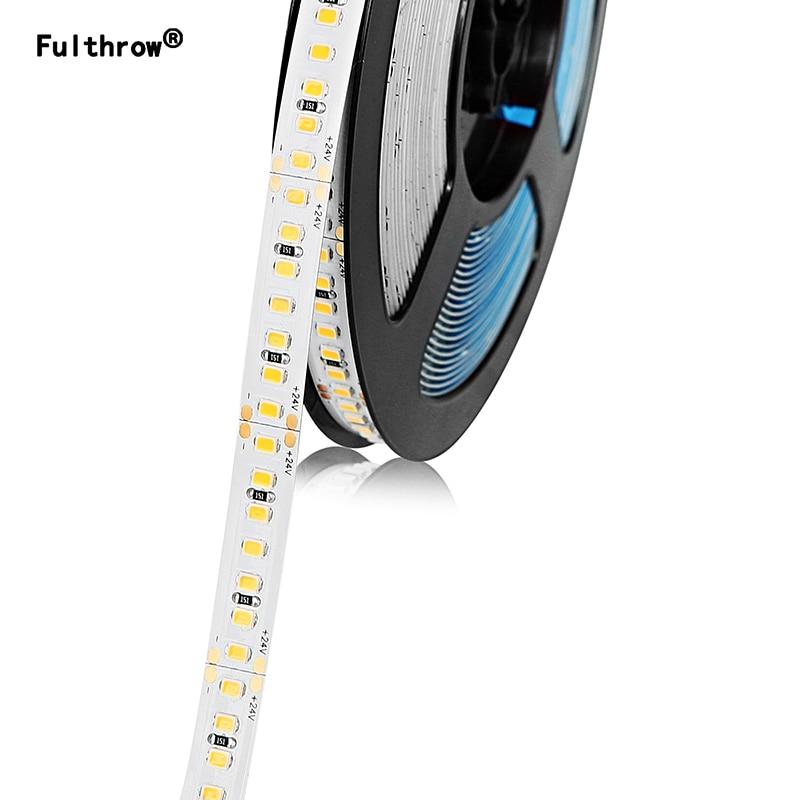 Fuljeter LED bande 2835 SMD182 LED s/m 5M 300/600/1200 LED s DC24V haute luminosité Flexible LED corde ruban ruban lumière blanc chaud/froid