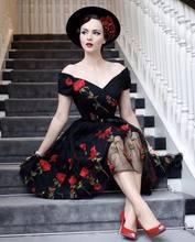 Женское Новое Вечернее платье из газовой ткани с вышивкой