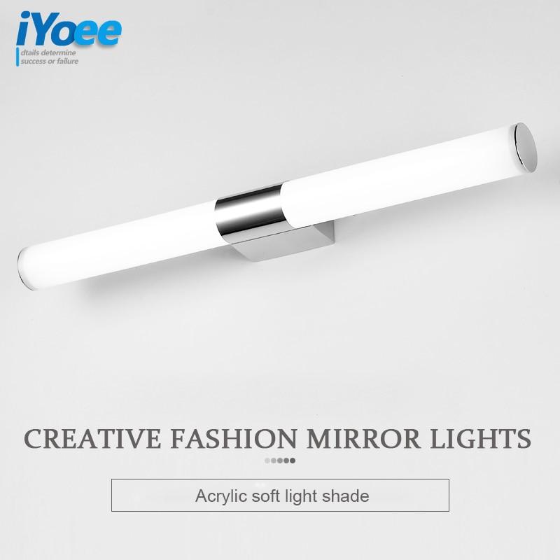 Ժամանակակից 8W 10W 12W լոգարանի LED հայելիի լույս 85-265V Սառը տաք սպիտակ LED պատի լամպեր Vanity հայելի լուսավորություն Հյուրասենյակ փակ