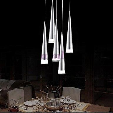 Светодиодный Современный Алюминий подвесной светильник, 5 свет, прозрачный акриловый металлическое покрытие, 110 В-240 В.