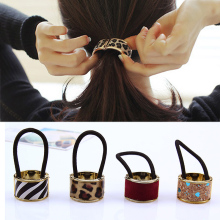 Hot Sale 1pc Fashion Elastic Hair Bands Simple Circle Ponytail Accessories For Women Girls