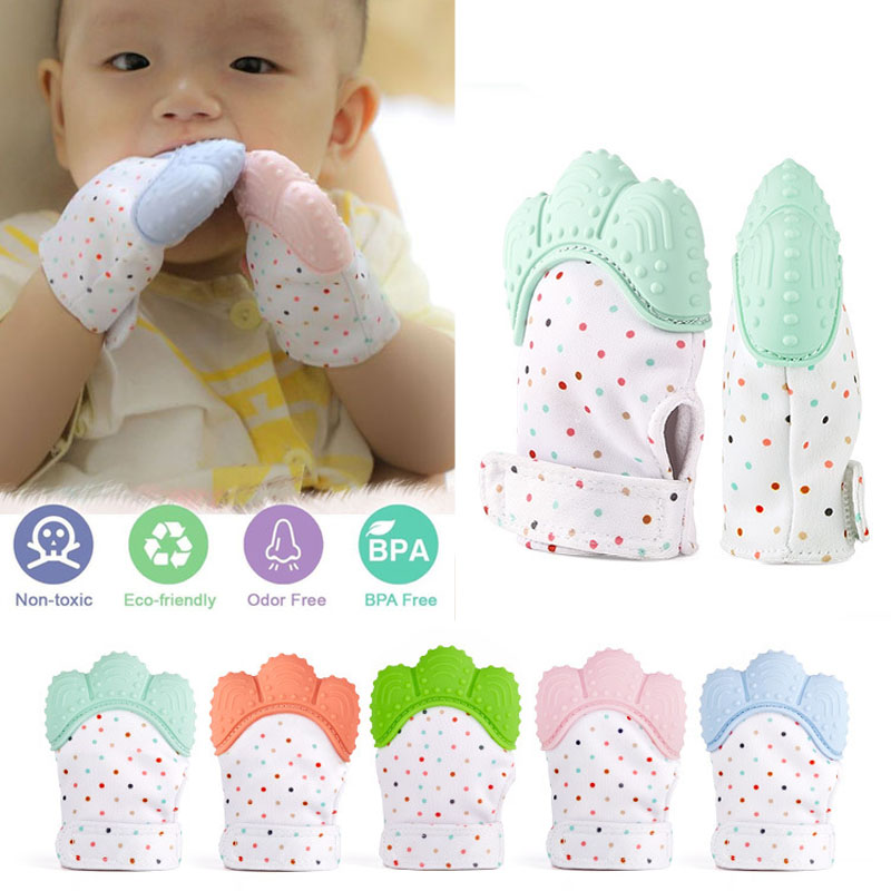 Baby Candy Wrapper Sound Teether Silicone Mitt Teething Mitten Teething Glove