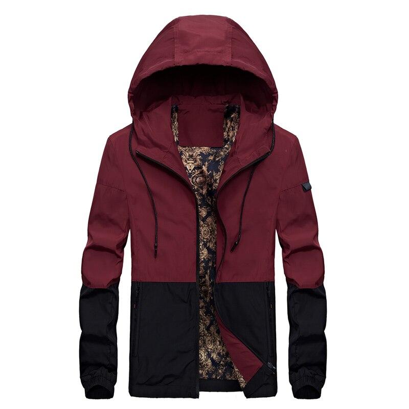 Spring New Men Brand Clothing Sportswear coats Men Fashion Windbreaker Jacket Zipper Coats Outwear Men Hooded