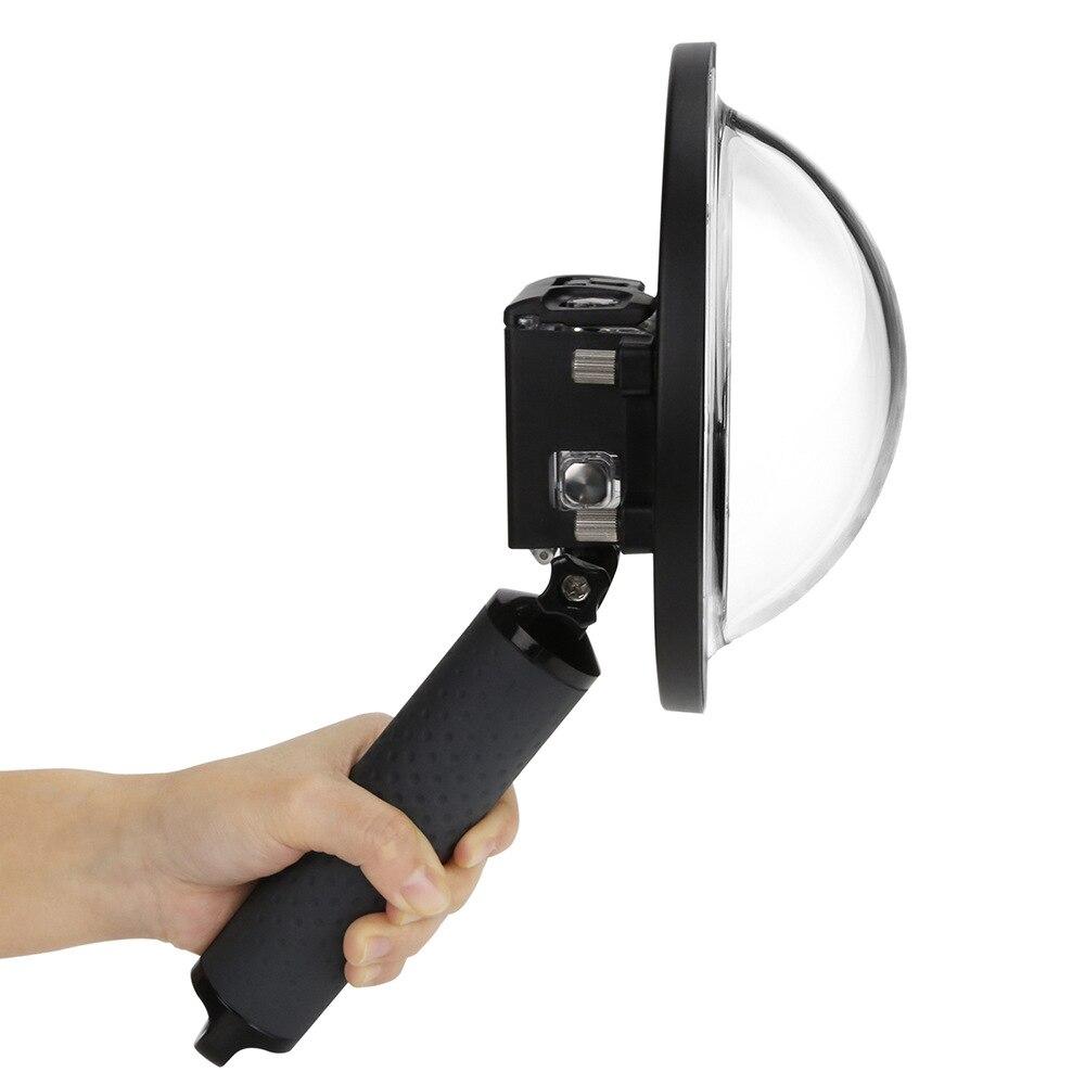 6 pouces Dôme pour Gopro Hero 7 6 5 Noir caméra d'action Avec Boîtier Étanche Go Pro 7 6 5 Lentille dôme Port pour accessoire gopro