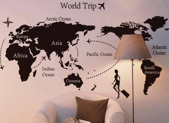 Free shipping 140x80cm new design world map removable wall art free shipping 140x80cm new design world map removable wall art stickers vinyl stickermap of gumiabroncs Choice Image