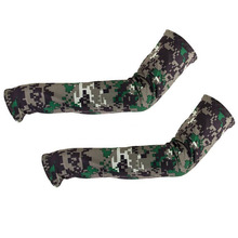 1 pair Camouflage Cooling Arm Sleeves Sun UV Protection Cover Golf Cycling Bike Sports Over-sleeves Arm Warmers