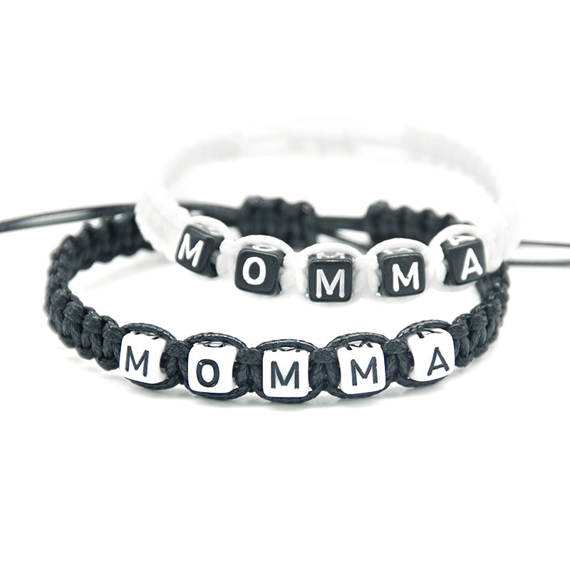 1pcs Artificial Momma Bracelet Mother Infinity Wish Adjust Size Baby