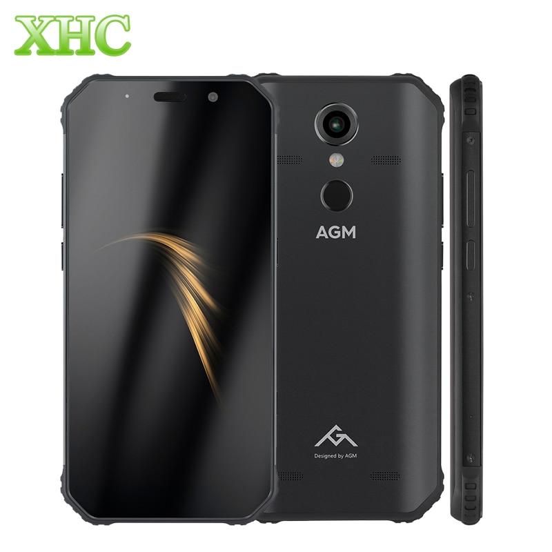 Téléphone robuste AGM A9 3 GB + 32 GB IP68 empreinte digitale étanche 5.99 pouces Android 8.1 Octa Core OTG NFC 16MP 12MP Smartphones double SIM