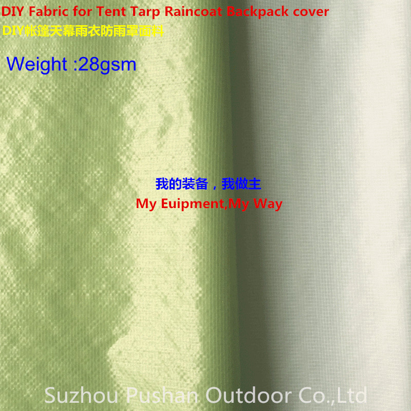 Supply DIY Thinner Fabric for Tent Tarp Raincoat Backpack Cover 10D Nylon Double Ripstop Both Side Silicone 2 000mm Tent Accessories Sports & Entertainment - title=