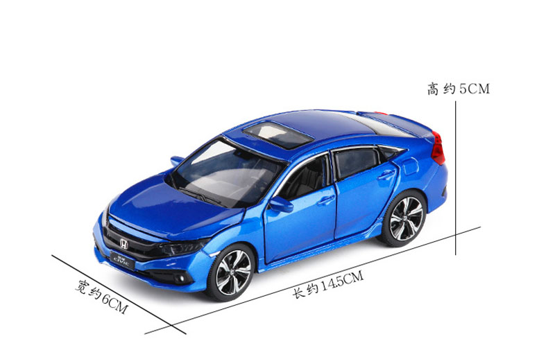 Image 2 - 1/32 2019 New Honda Civic Model Toy Cars Alloy Diecast Metal Casting Light Sound Car Toys For Children-in Diecasts & Toy Vehicles from Toys & Hobbies