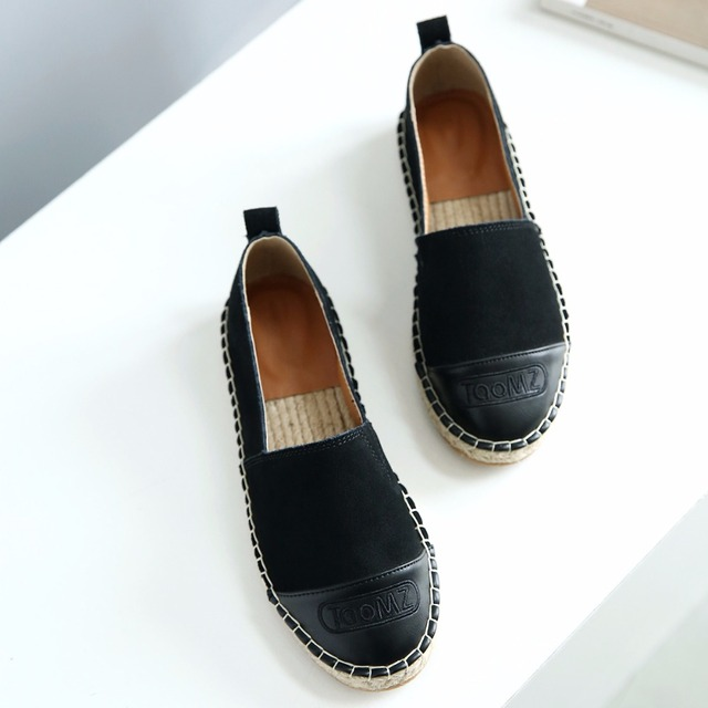 5709fb77dce 2018 Slipony Loafer Women Cow Suede Espadrilles Hemp Insole Flats Shoes  Brand Designer Flat Loafers Pretty High Quality