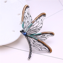 dragonfly brooch enamel pin badge men jewelry gifts brooches for women insect metalico