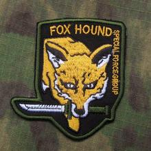 Black Metal Gear Solid MGS FOX HOUND Special Force Group Embroidered patch B1974