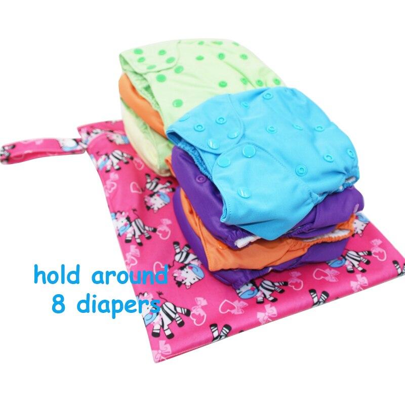 impermeável reutilizável bebê fralda de Handle : Snap Button Handle