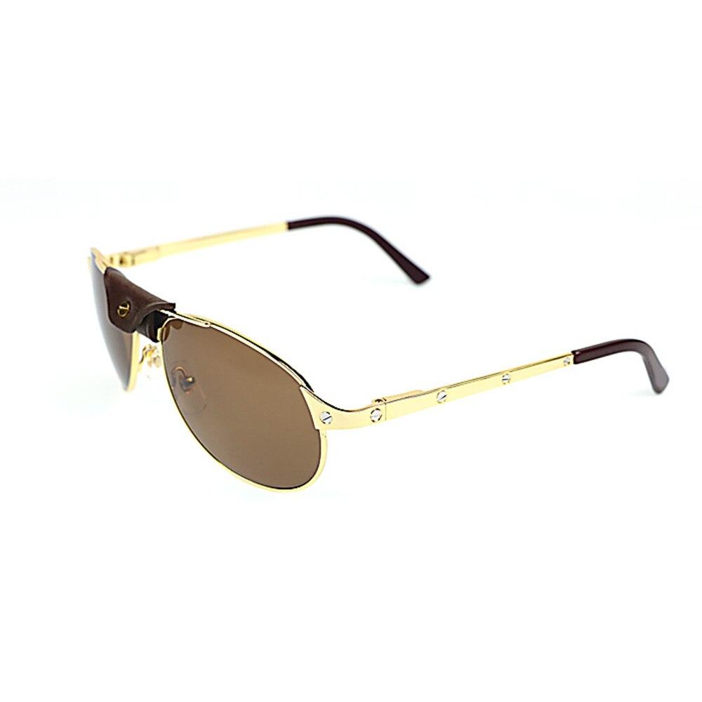 Lunettes de soleil ovales hommes Santos Rivet lunettes cadre luxe lunettes pour Club de conduite rétro Style métal cadre lunettes de soleil nuances 554