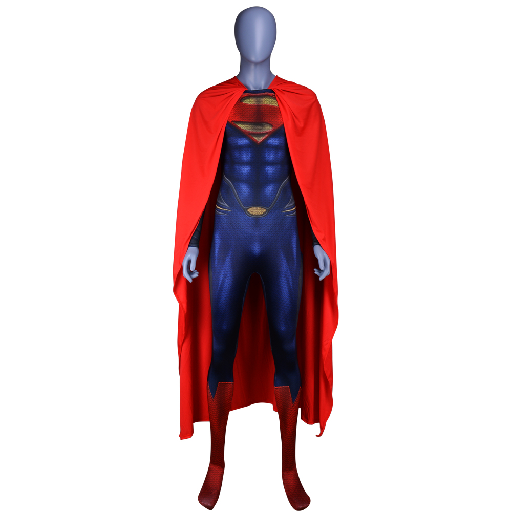 Anime Superman Clark Kent Cosplay Costumes Superhero Superman Costumes Kid Adult Halloween Zentai Jumpsuits Cloak Bodysuits Suit