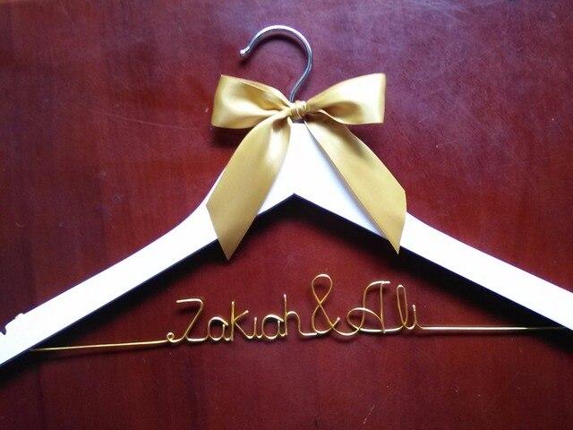 Wedding Dress Hanger Personalized Last Name Bridal Bridesmaids
