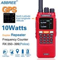 ABBREE AR 889G 10W GPS Walkie Talkie 3000mAh SOS 999CH Night Backlight Duplex Repeater Dual Band Dual Receiving Hunting CB Radio