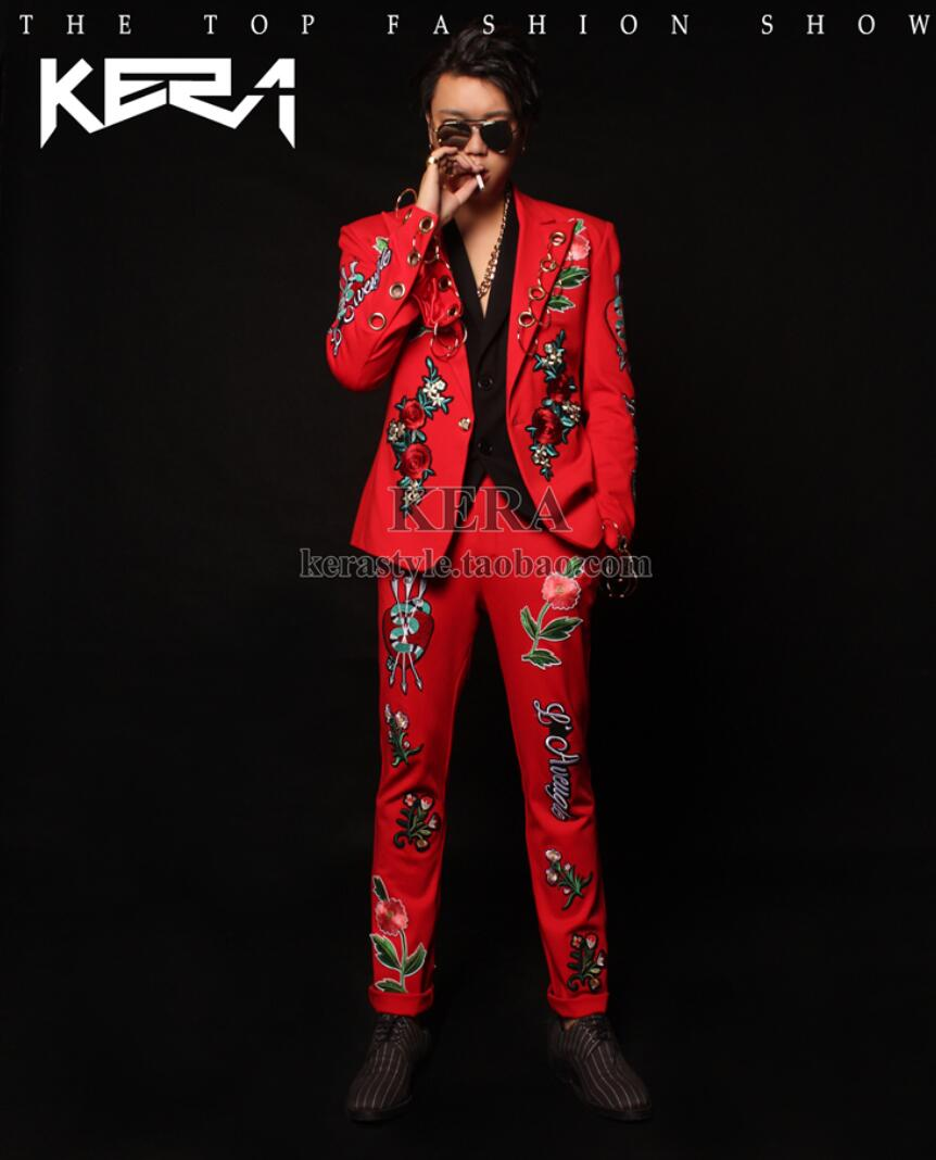 Red And Gold Prom Suits - Suit La