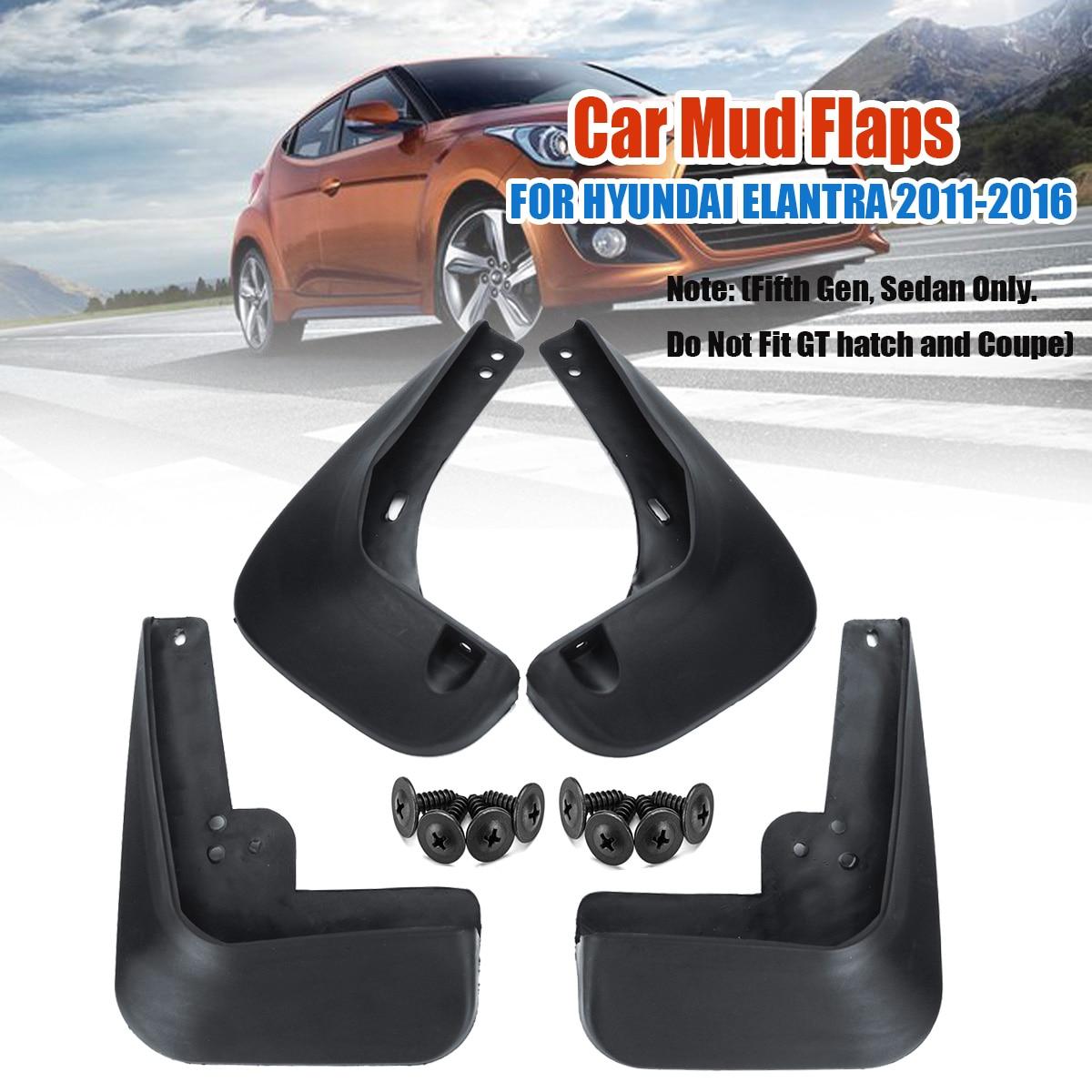 4 Uds accesorios de coche guardabarros para HYUNDAI ELANTRA 2011 2012 2013 2014 2015 2016 guardabarros protector contra salpicaduras