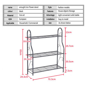 Image 2 - 3 layers Iron Outdoor Garden Plant Shelves Storage Shelf Simple Assembly Removable Bedroom Flower Pot Iron Rack for Balcony