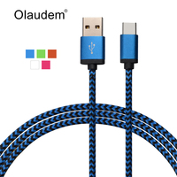 USB 3.1 Type-C Data Sync Charge Cable Nylon Line For 2015 Macbook Nexus 5X 6P Nokia N1 Oneplus 2 Lumia 950 950 XL USBC1088